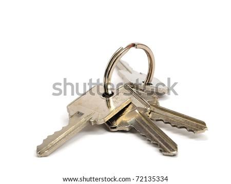 keys on a white background - stock photo