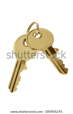 keys on white  - stock photo