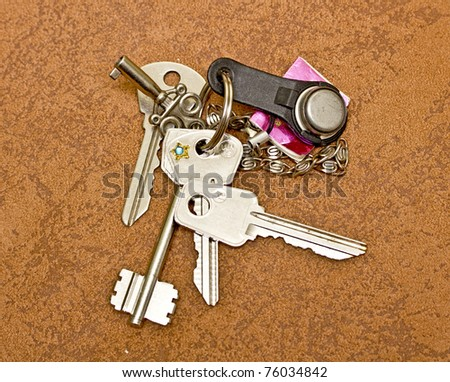 Keys to apartment - stock photo