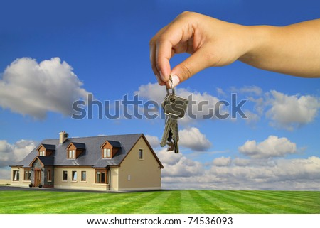 Keys to new dream house - stock photo