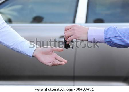 keys to the car - stock photo