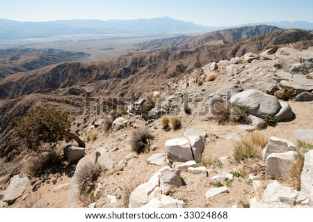 keys view of desert mountain ranges
