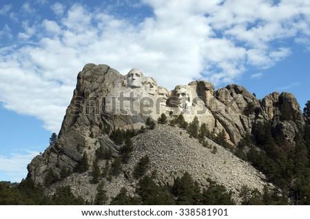 KEYSTONE, SOUTH DAKOTA July 2015 - Mt. Rushmore National Memorial near Keystone, North Dakota, USA - stock photo