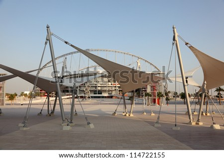 Khalifa International Stadium in Doha, Qatar Middle East - stock photo