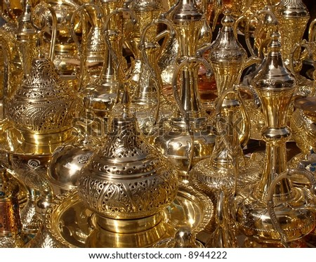Khan-el-Khalili Brass Lanterns - stock photo