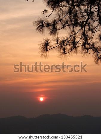 Khao Kho Viewpoint , Phetchabun , Thailand tourism - stock photo