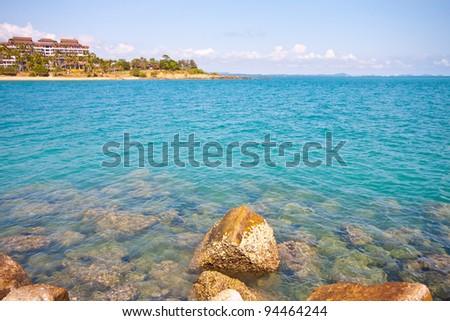 khao laem ya beach and resort (thailand) - stock photo