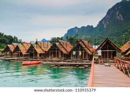 Khao sok park, mountain and lake in Suratthani, Thailand.
