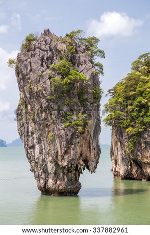 Khao Tapu rock at James Bond island, Andaman Sea, Thailand
