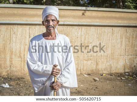 Khartoum, Sudan, December 18th December: Sudanese man on a street on Khartoum