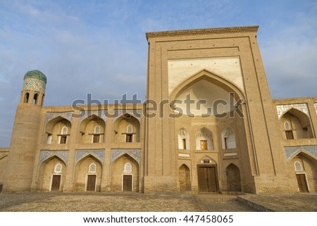 KHIVA UZBEKISTAN  - Sunrise architectural abstracts, old city