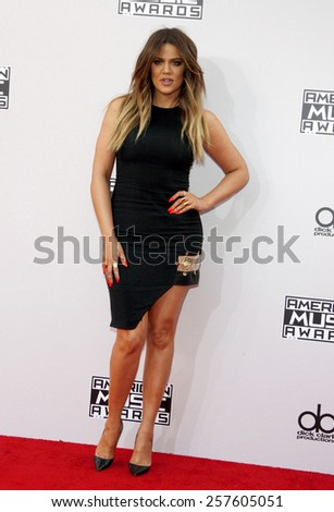 Khloe Kardashian at the 2014 American Music Awards held at the Nokia Theatre L.A. Live in Los Angeles on November 23, 2014 in Los Angeles, California.  - stock photo