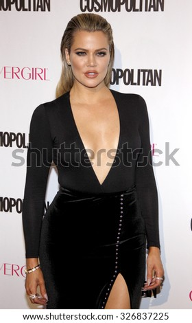 Khloe Kardashian at the Cosmopolitan's 50th Birthday Celebration held at the Ysabel in West Hollywood, USA on October 12, 2015. - stock photo