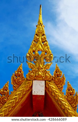 kho samui bangkok in thailand incision of the buddha gold  temple