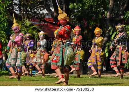 Khon Show Of Ramayana - stock photo
