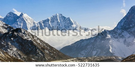 Khumbu glacier, view from Kala Patthar - Everest region, Nepal, Himalayas