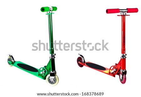 Kick Scooter. Isolated with clipping path. - stock photo
