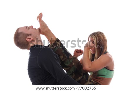 Kickboxing Knockout - stock photo