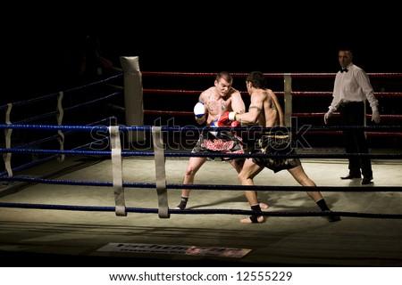 kickboxing mach - stock photo