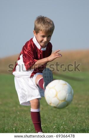 kicking - stock photo