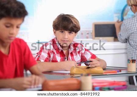 Kid at school - stock photo