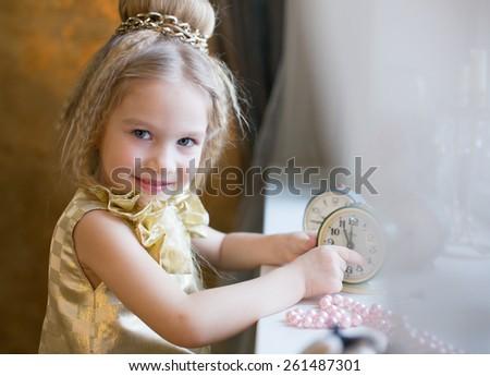 Kid blonde - stock photo