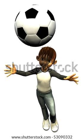 kid boy teen human footballer head - stock photo