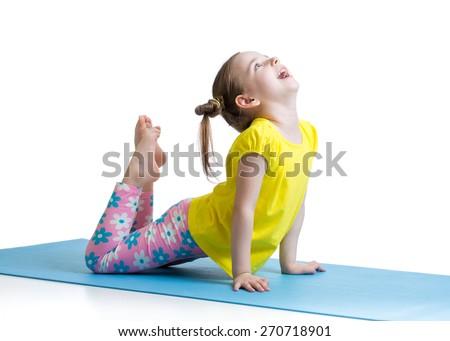 yoga kid stock photos royaltyfree images  vectors