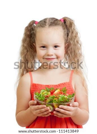 kid eating healthy food apple - stock photo