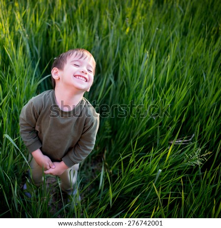 kid enjoy for real - stock photo