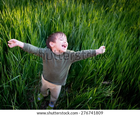 kid Enjoyment - stock photo