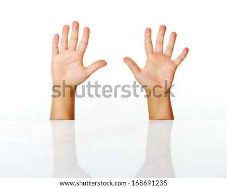 Kid fingers isolated