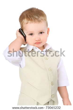 kid growing up with a serious look - stock photo