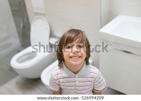 Cute Twoyearold Girl Looking Out Bath Stock Photo 49822858 Shutterstock