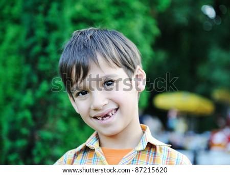 Kid in nature - stock photo