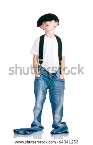 Kid like a fun scamp - stock photo