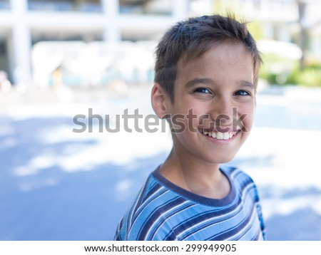Kid portrait - stock photo