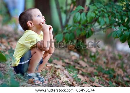 Kid portrait. - stock photo