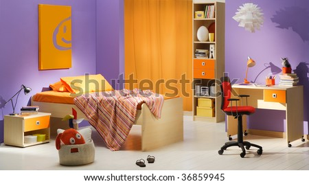 kid's bedroom - stock photo