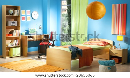kid's room - stock photo
