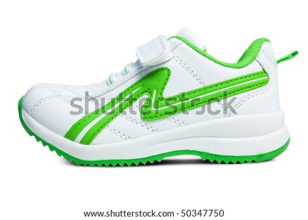 Kid`s sport shoe. Isolated on white background with clipping path. - stock photo