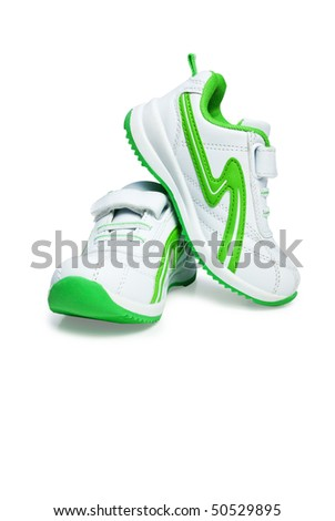 Kid`s sport shoes. Isolated on white background with clipping path. - stock photo