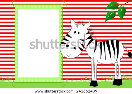 Kid scrapbook with zebra - Photo  frames for children  - stock photo