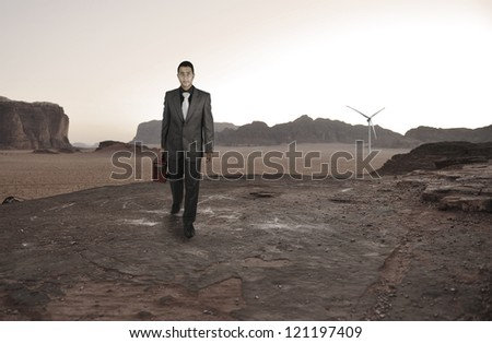 Kid traveling on road concept - stock photo