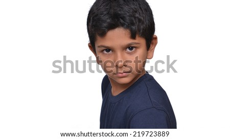 kid with an face expression. - stock photo