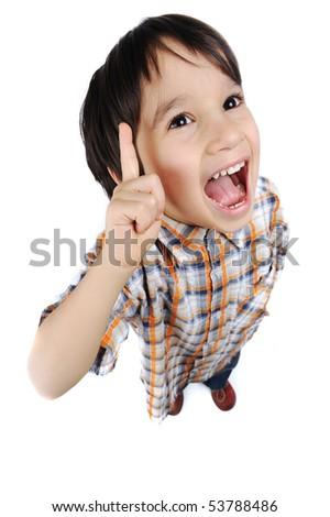 kid with an idea - stock photo