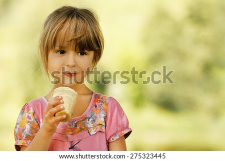 kid with ice cream - stock photo