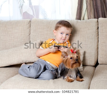 kid with loving dog york