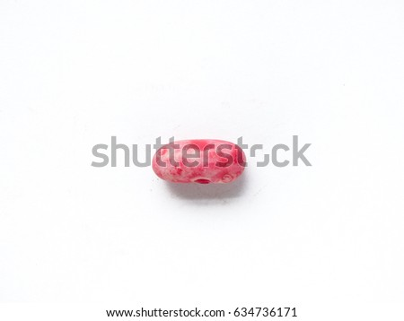 Kidney bean seed on white isolated background