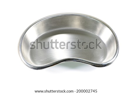 kidney tray, medical equipment  - stock photo